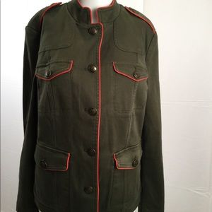 NEW Biden green red military inspired jacket 10